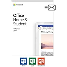 Microsoft Office Home & Student 2019 | 1 person, Windows 10 PC/Mac Key Card, English