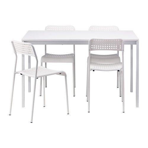 Ikea Table and 4 chairs, white 20202.51411.3026