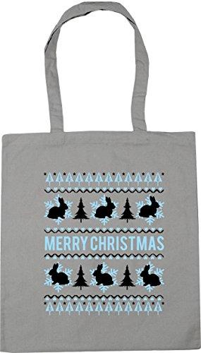 Gym Bag Tote bunny x38cm litres Shopping 42cm 10 Light christmas Merry Grey Beach HippoWarehouse TqU0XB0