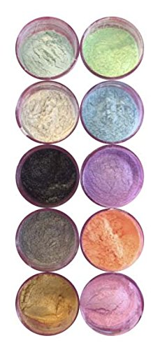 Sparkle Luster Dust Set (10 colors) for cake, fondant, gum paste By Oh! Sweet Art Corp