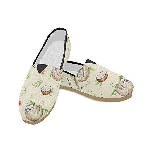 D-etasjers Mote Joggesko Leiligheter Dansende Skjeletter Kvinners Klassiske Slip-on Canvas Sko Loafers Multi10