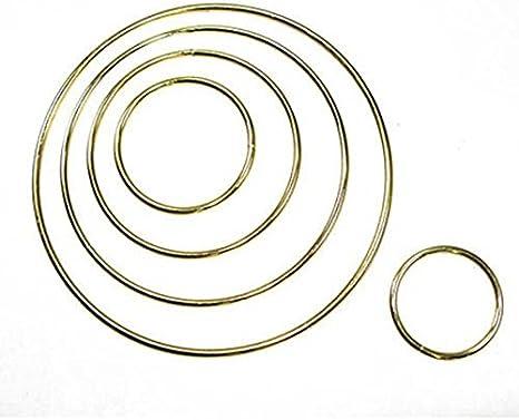 "Gold Toned 1.5/"" Macrame Ring PACK of 10 Metal Ring Hoop Brass"