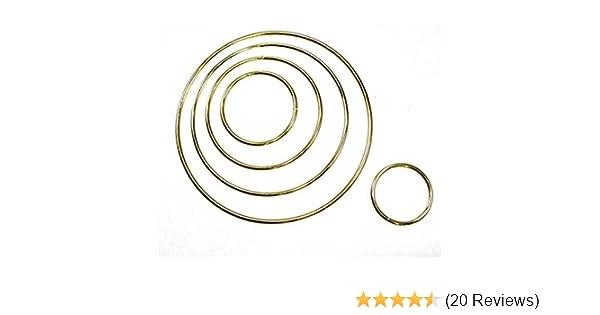 "12.7cm Brass Plated Metal Dreamcatcher Ring Hoop 5/"""