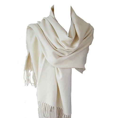 69222993edaf Echarpe étole chale en laine et cachemire grande épaisse et chaude ...