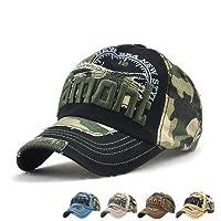 LAOWWO Casual Camo Baseball Cap Cool Cotton Adjustable Military Summer Outdoor Cap Hat Men Women Sport Hiking Hunting Trekking Cap