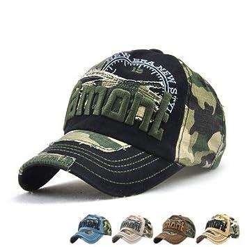 c05e963cf93 LAOWWO Casual Camo Baseball Cap Cotton Adjustable Military Summer Outdoor Cap  Hat Men Women Sport Hiking