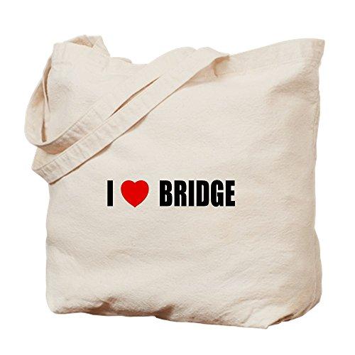 CafePress I Love–Puente–Gamuza de bolsa de lona bolsa, bolsa de la compra