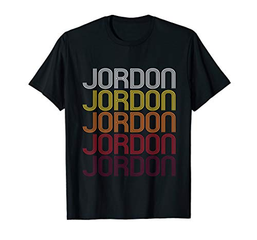 Jordon Retro Wordmark Pattern - Vintage Style T-shirt