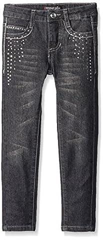 Freestyle Revolution Little Girls Studded Skinny Jean, Black Night Wash, 6X - Studded Revolution