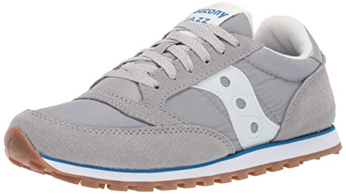 Women Saucony Shoes - Saucony Originals Women's Jazz Lowpro Sneaker, Grey/Blue, 8 M US