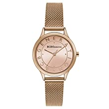 BCBGGENERATION Women's Japanese-Quartz Watch with Stainless-Steel Strap, Rose Gold, 11.6 (Model: GN50722013)