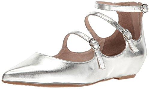 Ballet 5 de mujer plateado plano p¨®rtico m para US 6 77xvw0