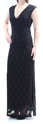 New Dress Connected 10 Neck B 1117 B Lace Sequined Womens Black V 99 Sleeveless qggwxpRES