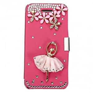 PU Leather Diamond Protective Case Cover For iPhone 5 5S 5C -*- Color -- Black