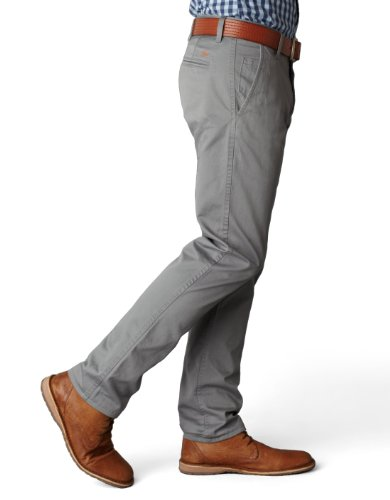 Dockers Men's Alpha Khaki Slim Tapered Flat Front Pant