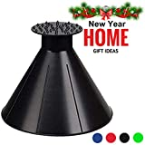 Scrape A Round Ice Scraper Car Windshield Snow Scraper Cone Shaped Windshield Snow Funnel Shovel Tool Will Scrape Pesky Frost and Ice from Windscreens and Side Windows with Ease (Black)