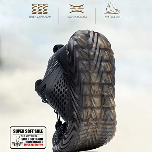 Chaussure de Securité Homme Femme Bottes Travail Chantiers Industrie Sneakers Protection Embout en Acier Basket de… 4