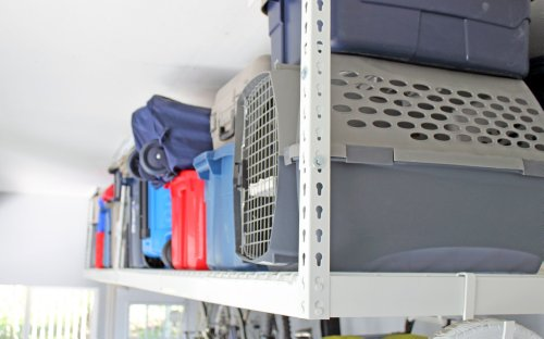 SafeRacks - 4x8 Overhead Garage Storage Rack Heavy Duty (18'-33' Ceiling Drop)