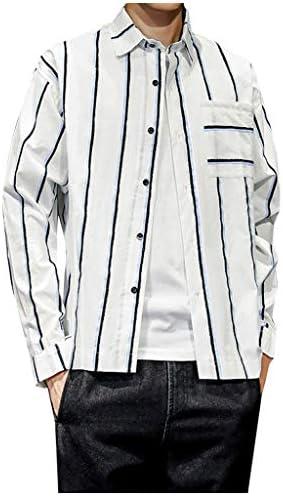 Luckycat Camisa Hombre Hawaiana Verano Manga Larga Rayas Estampado Vintage Moda Casual Camisa de Manga Larga para Hombre, Corte Ajustado, fácil de Planchar, para Trajes, Negocios, Bodas, Ocio: Amazon.es: Ropa y accesorios
