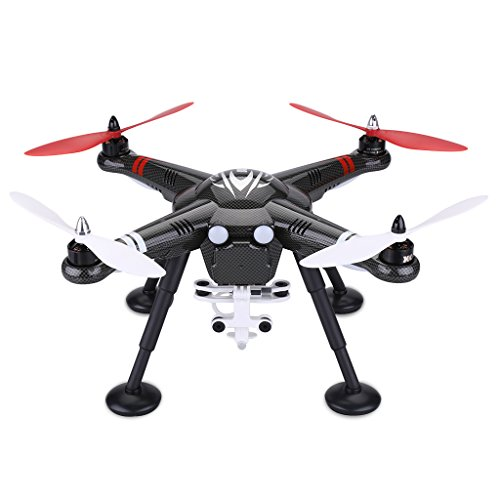 WLtoys X380 RC Quadcopter Drone 2.4G 4CH Headless Mode One Key Return GPS with Camera Shock Absorption – Black
