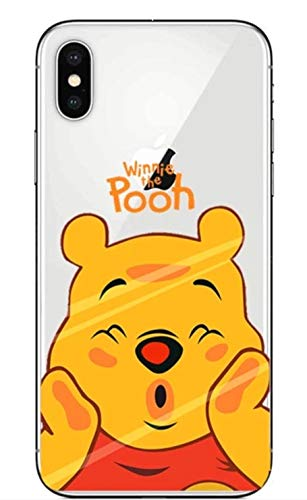 Phone Kandy Transparent Clear Ultra Thin Soft Silicone Gel Case Cover TPU Funny Face Prime (Winnie The Pooh, iPhone Xs Max)