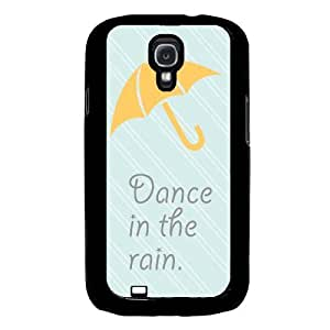Cool Painting Dance In The Rain Turquoise Samsung Galaxy S4 I9500 Case Fits Samsung Galaxy S4 I9500 wangjiang maoyi