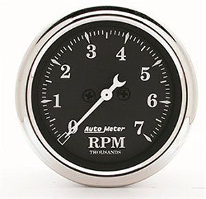 Auto Dial Black (Auto Meter 1797 Old Tyme Black Electric Tachometer)