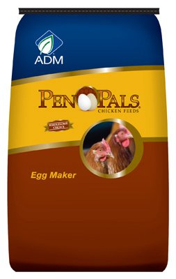 Pals Small Pen (Adm Alliance Nutrition 70010Aaa24 Pen Pals Chicken Feed, Egg Maker, Non-Medicated, Pellet, 50-Lbs. Farm Feed)