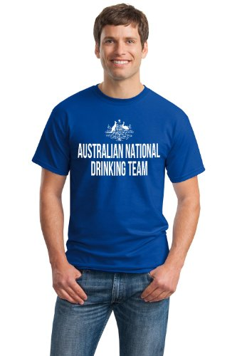 AUSTRALIAN NATIONAL DRINKING TEAM Unisex T-shirt / Funny Australia Beer Tee