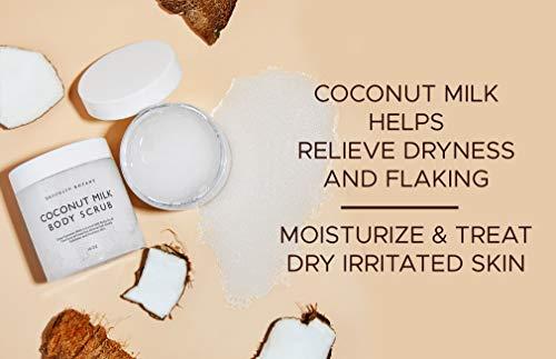 Brooklyn Botany Coconut Milk Body Scrub – Moisturizing and Exfoliating Body, Face, Hand, Foot Scrub – Fights Stretch…