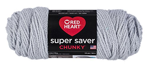 RED HEART Super Saver Chunky, Light Gray, LT
