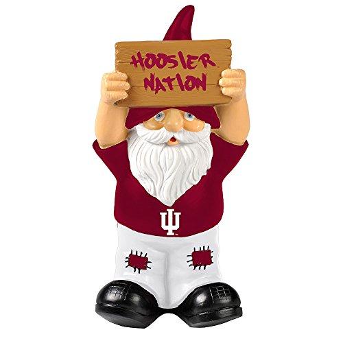Elite Fan Shop Indiana Hoosiers Garden Gnome - Crimson