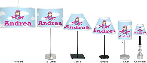 RNK Shops Airplane & Girl Pilot 7'' Drum Lamp with Shade Linen (Personalized) by RNK Shops (Image #6)