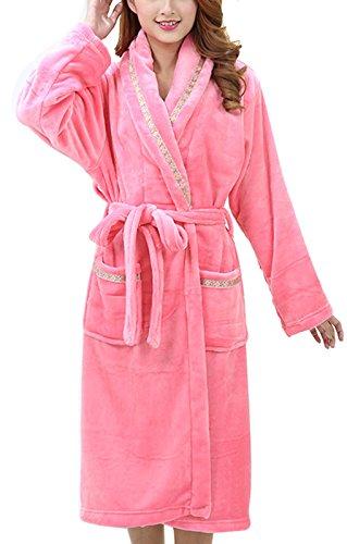 Women Ladies Flannel Nightgown Nightwear Sleepwear Robe D...
