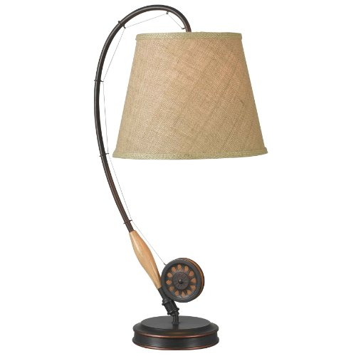Kenroy Home 32193ORB Fly Rod Table Lamp, 27.5