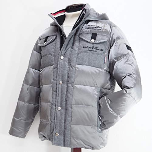 40486 秋冬 ダウンコート ハーフコート フード取り外し可 グレー(灰色) サイズ 50(LL) CAPRI カプリ 紳士服 メンズ 男性用