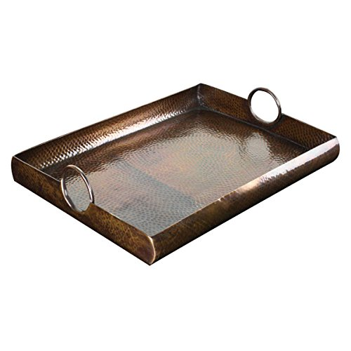 HAND HAMMERED SERVING Copper TRAY ()