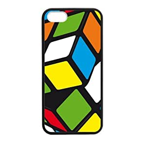 Magic Cube,Rubik's cube,cube puzzle Apple iphone 5 or 5s Plastic and Plastic and TPU (Laser Technology) Case Cover, Cell Phone Cover