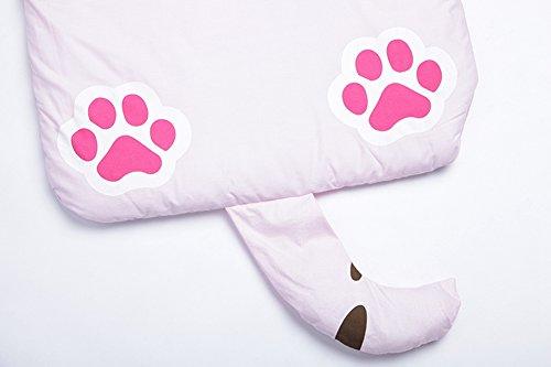 Lestore Kids Boy and Girl Big Cartoon Sleeping Bag Bunting Bags 140cm*60cm (D-pink cat) by Lestore (Image #3)