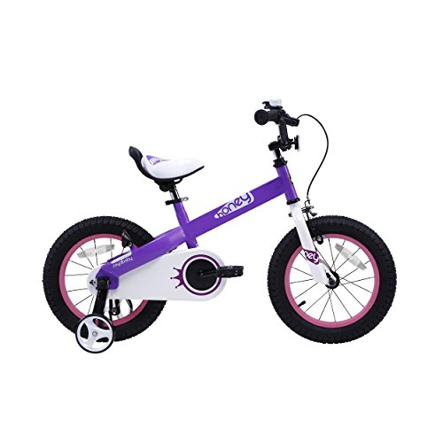 RoyalBaby CubeTube Kid s bikes, unisex children s bikes with training wheels, various trendy features, gifts for fashionable boys & girls, Lilac Honey, 18 inch