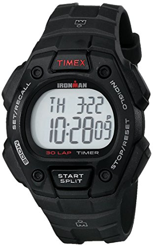 Timex Men's T5K822 Ironman Classic 30 Black Resin Strap Watch (Black Resin Strap)