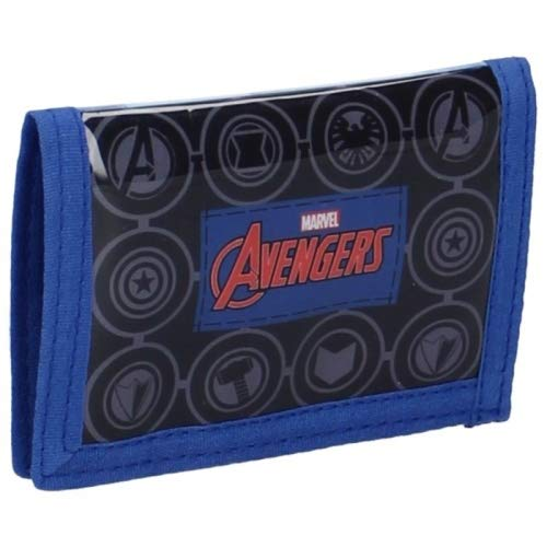 Marvel Avengers Geldbörse Geldbeutel Kinder Portemonnaie Superhelden blaurot