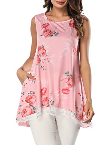 Women's Sleeveless Blouse Shirt Halter Neck Floral Tops