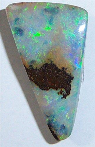 A Stunning Green Fire Genuine Australian boulder opal 13 x9mm, 3.5ct