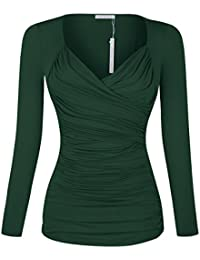 Amazon.com: Green - Blouses & Button-Down Shirts / Tops & Tees ...