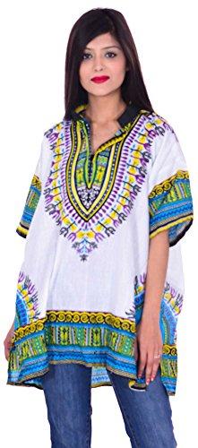 Indian-100-Cotton-Kurta-Top-Women-Ethni-Tunic-Kurti-plus-size-White-Color-Trishul-Print