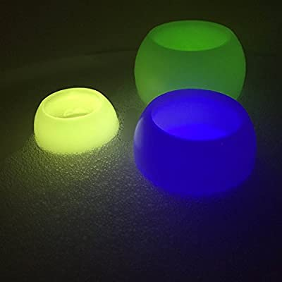 Floating LED Lights for Pools and Spas, Candle Wax Exterior, Plastic Interior, Set of 3 Continuously Changing Spectrum of Color, Set of 3, 4, 5 Inches, Batteries Included, By Whole House Worlds