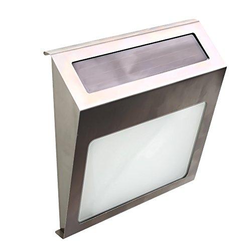 Elinkume Hausnummernleuchte LED Solar Lichtsensor Lampe Licht mit Zahlen Buchstaben