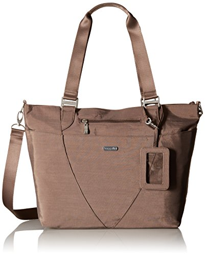 Baggallini Avenue Tote Bag - Lightweight, Water Resistant, Carry-On Travel Purse With Zippered Pockets and Laptop Sleeve Boston Tote Bag Purse