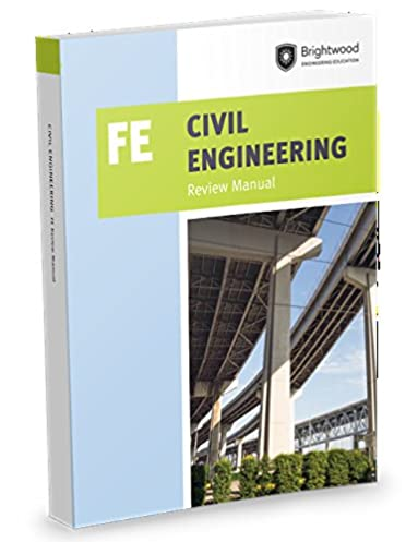 civil engineering fe review manual brightwood engineering rh amazon com kaplan civil engineering fe review manual Fe Exam Sample Questions